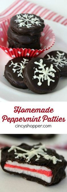 Homemade Peppermint Patties Recipe- Great to enjoy yourself or for gifting this holiday season. Super quick and so simple to make right at home.
