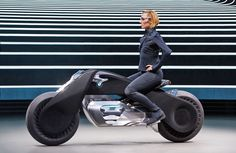 BMW's motorcycle of the future doesn't require a helmet - The Motorrad Vision Next 100 would use self-balancing tech to keep you safe.