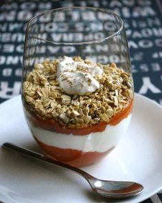 24. Pumpkin Granola Yogurt Parfait #healthy #breakfast #recipes https://greatist.com/health/healthy-fast-breakfast-recipes