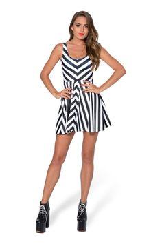 Beetlejuice Remix Scoop Skater Dress - LIMITED › Black Milk Clothing