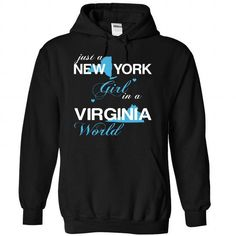 Awesome Tee (NYJustXanh001) Just A New York Girl In A Virginia World T-Shirts
