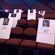 Taylor will be sitting in front of Maroon 5, beside Lorde, & near Demi Lovato at VMAs 2014 tonight.
