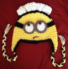Crochet Despicable Me Minion Maid Earflap Beanie Hat - Etsy $15.00