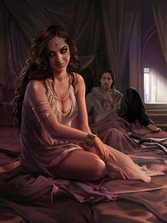 Arianne Martell and Arys Oakheart - by Magali Villeneuve.  Love this one, it is exactly how I pictured Arianne!