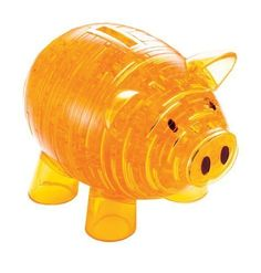 PicknBuy® 3D Crystal Puzzle Yellow Piggy Bank Jigsaw Puzzle IQ Toy Model Decoration