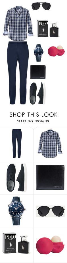 """""""#dontknowguyclothing"""" by madelynrho ❤ liked on Polyvore featuring Banana Republic, Uniqlo, Burberry, OMEGA, Bally, Ralph Lauren, Eos, men's fashion and menswear"""