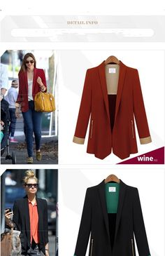 Blazers Women 2014 Fashion Casual Blazers and Jackets V-Neck Chaquetas Mujer Free Shipping 8339 to Worldwide Bulk Price:US $58.84 / piece