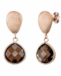 14K Rose Gold Dark Smoky Topaz Gemstone Earrings The Pearl Source. $59.00. Save 67% Off!