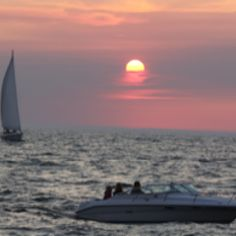Holland Michigan at sunset.