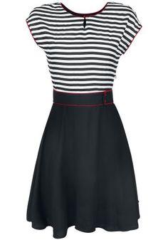 Stripey - Medium-lengte jurk van Pussy Deluxe