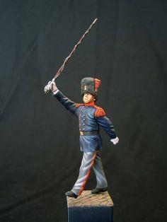 Tambour-major d'infanterie 1873 armée belge figurine du club de Figurinistes de Bruxelles