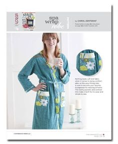 Download Now This file contains pattern pieces only. Project instructions are in Stitch magazine's Summer 2011 issue. Nothing beats soft knit fabric when it comes to being comfortable, so this easy-fitting robe is sure to become your favoriteloungewear for relaxing at home. The roomy pockets and contrast trim make it both fun to wear and…