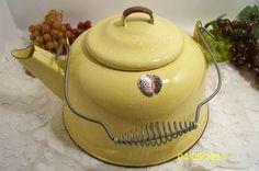 Yellow Enamelware Teapot