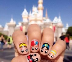 Disney nail art, creative disney nail art, Disney Nails, Disney Finger Nails, Fun Disney Nail art, fancy Disney Nail art, nail art, disney nail art for kids, Minnie Mouse Nail Art, Beauty and the Beast nail art, tinkerbelle nail art, goofy nail art, Little Mermaid nail art