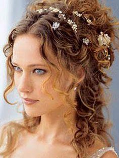 bridal hairstyle: half up half down