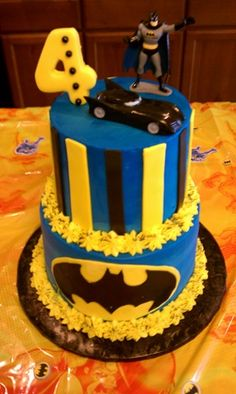 If Breck remains a superhero addict this will be his 3 year old cake:)