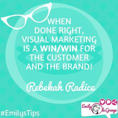when done right visual content marketing is a win/win for the customer & the brand. @RebekahRadice