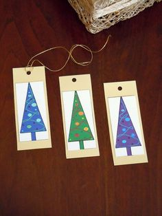 Christmas Tree Tags  Set of 3 by valeriatelier on Etsy, $3.30
