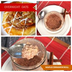 21 Day Fix: Maple Cinnamon Roll Overnight Oats | From Forks to Fitness