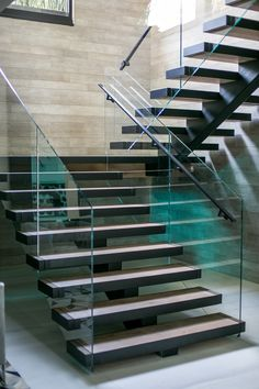 Contemporary Stairs In A Home In Beverly Hills
