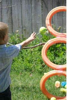 Pool Noodle Fun and Games - great for the last week of preschool!