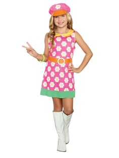 Check out Girls 60's Girly A Go Go Costume - Girls Tween Costumes from Anytime Costumes