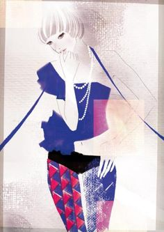 Fashion illustration by yoshihama asako