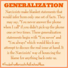 Narcissist and Generalization