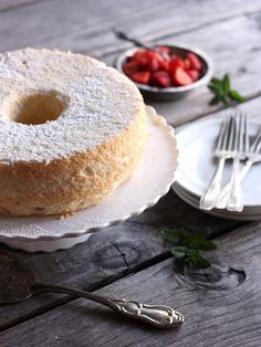 Angel Food Cake- My favorite dessert- so simple, so yummy and reminds me of my grandmother.