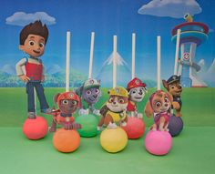 Paw Patrol Cake Pop Toppers Printable - DIGITAL - All 7 characters (Also works as Cupcake Picks!)