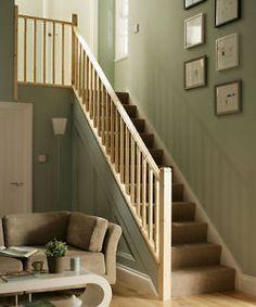 Pine Chamfered Stair & Landing Balustrade Kit - Select Landing Length