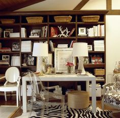 fab desk and lucite chair