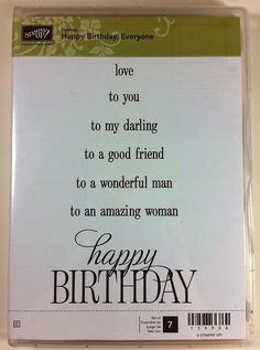 Stampin' Up! HAPPY BIRTHDAY EVERYONE darling friend husband wife woman #StampinUp