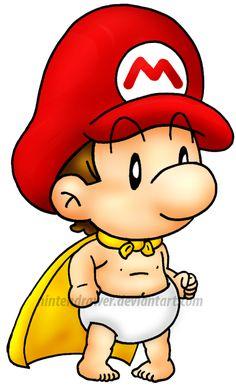 super baby mario by Nintendrawer.deviantart.com on @deviantART
