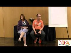 Jacqueline Hollows speaking with Dave Kibby at Viva in Nov '15