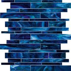 Marazzi Catwalk Random-Sized Glass Mosaic in Blue Ballet Blue Glass Tile, Blue Tiles, Glass Mosaic Tiles, Wall Tiles, Cement Tiles, Glass Art, Blue Mosaic, Room Tiles, Contemporary Kitchen Tiles