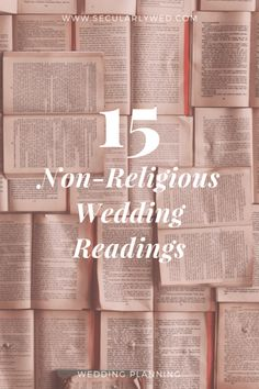 What kind of wedding planning blog would we be without ceremony reading suggestions? No one should have to suffer through 1 Corinthians ever again. Readings are a great way to personalize your ceremony or include important family members in the wedding. We have compiled a list of 15 of our favoritenon-religious wedding readings quotes, poems,…