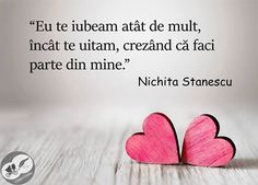 Citate iubire, citate dragoste, citate de Nichita Stanescu Qoutes, Funny Quotes, Humor Quotes, I Believe In Me, Sad Stories, Piece Of Me, Book Quotes, Motto, Motivation