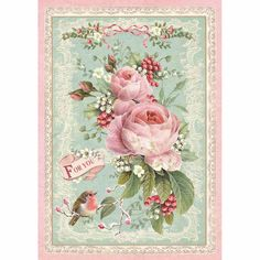 Decoupage Rice Paper packed Pink Christmas rose by Stamperia for Scrapbooks, Cards, & Crafting Graphic 45, Arts And Crafts Storage, Christmas Rose, Christmas Collage, Paper Tags, Rice Paper, Christmas Printables, Pattern Paper, Alice
