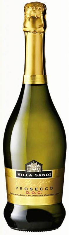 Villa Sandi - Prosecco - Vini prestigiosi - Procecco D. Fresco, Prosecco Doc, Dom Perignon, Wine Education, Wine Tasting Party, Wine Brands, Sparkling Wine, Label Design, Wine Recipes
