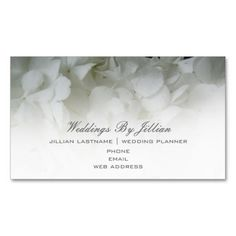pink bridal roses business card wedding planner business cards