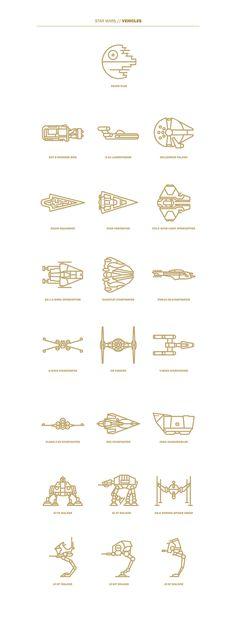 Star Wars Flat Icon Project - Selin Ozgur Star Wars flat icons So Droides Star Wars, Theme Star Wars, Nave Star Wars, Star Wars Comics, Star Wars Ships, Star Wars Icons, Star Wars Droids, Disney Star Wars, Star Wars Tattoo