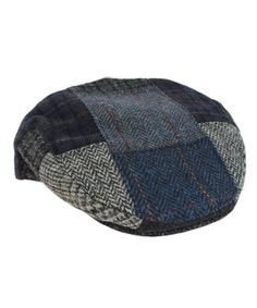 4ddc1700b8b Irish Tweed Cap Patchwork Blue   Grey As Shown 100% Wool Made In Ireland  CJ1267Z503P