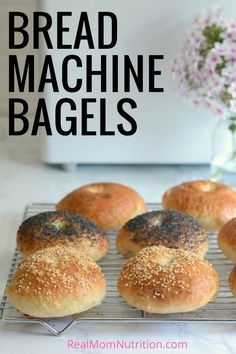 <br> Save time by making homemade bagels using your bread machine. These Bread Machine Bagels are soft, chewy, and so much better than store bought! Bagel Recipe Bread Machine, Easy Bread Machine Recipes, Best Bread Machine, Bread Maker Recipes, Challah Bread Recipes, How To Make Bagels, Tapas, Homemade Bagels, Homemade Butter