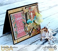 Take me to the Sea Card-Voyage Beneath the Sea-Magda Cortez-Graphic 45- 02 of 03