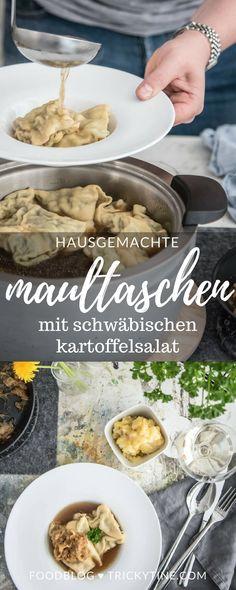 hausgemachte maultaschen mit schwäbischen kartoffelsalat ♥ trickytine.com