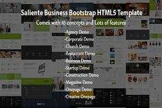 Saliente - Business Bootstrap HTML5 by Adon Creatives on @creativemarket