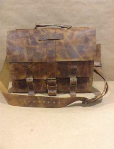 Leather Messenger Bag, Handmade Leather Unisex Briefcase, Womens And Men Briefcase Briefcase For Men, Leather Briefcase, Leather Crossbody Bag, Leather Bags Handmade, Satchel Bag, Custom Leather, Bag Making, Messenger Bag, Backpack