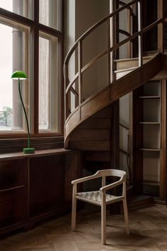 Library Lamp by Front design produced by Zero. Photo by Andy Liffner. 3d Interior Design, Arch Interior, Interior Stairs, Interior Architecture, Interior And Exterior, Interior Ideas, Modern Interior, Exterior Design, Interior Inspiration