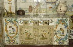 A good meal is basic for a healthy way of life - Tiled kitchen from Valencia, (MNAD's collection) Valencia, Vintage World Maps, Good Food, Food And Drink, Meals, Healthy, Artist, Kitchen, Painting
